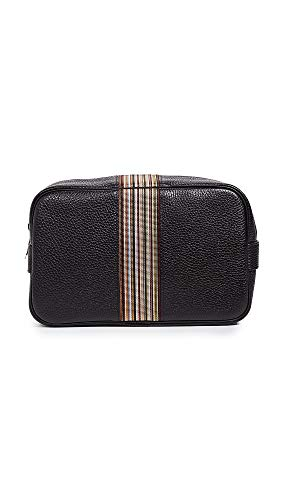 (Paul Smith Men's Striped Washbag, Black, One)