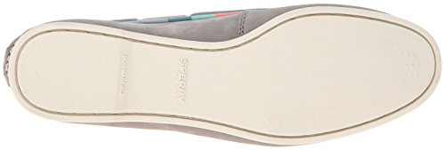 Sperry Top-Sider Womens Audrey Satin Piping Flat Charcoal