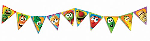 Eureka Veggietales Pennant Banners, Measures 10 ft long