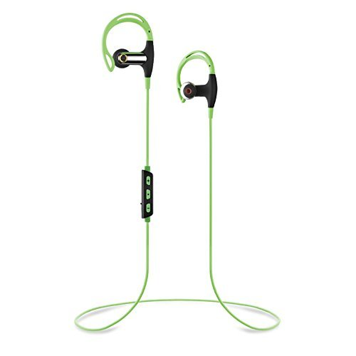 Omer Electronics SBH-1 Sports Stereo Bluetooth Headphones v4.1+EDR IPX4 Water Resistant 100% Compatibility (Green) (Jaw Headphones Bluetooth)