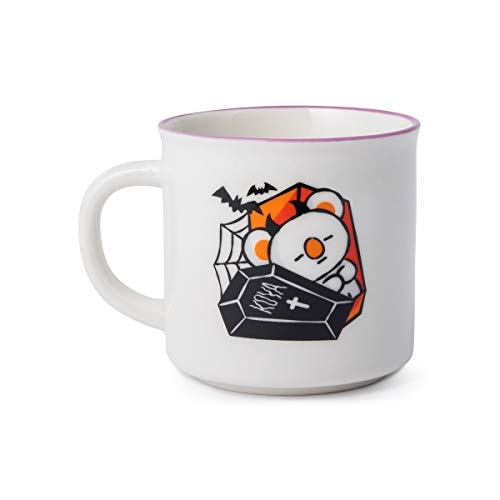 BT21 Official Merchandise by Line Friends - Koya Character Halloween Ceramic Mug Cup ()