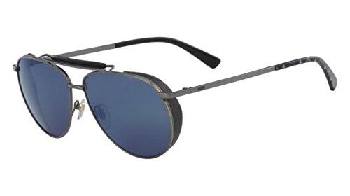 Sunglasses MCM 119 S 016 SHINY DARK GUNMETAL/BLACK ()