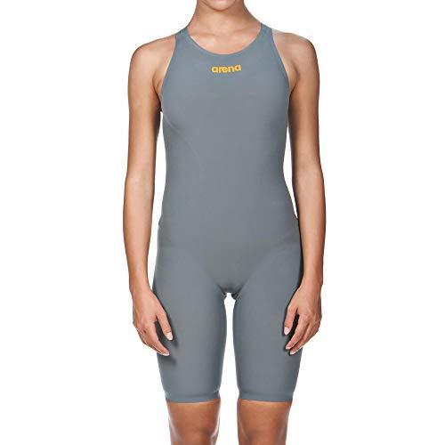 Arena Powerskin R-EVO One Women's Open Back Racing Swimsuit, Grey/Bright Orange, 26