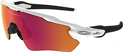 Oakley Boys' Radar Ev Xs Path Rectangular Sunglasses, Polished White, 31 - Oakley Baseball Sunglasses Youth