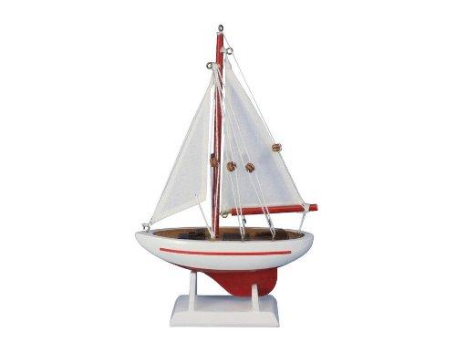 (Hampton Nautical  Pacific Sailer Red 9