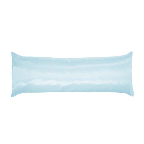 Betty Dain Soft Satin Body Pillowcase, 21 x 54, Blue