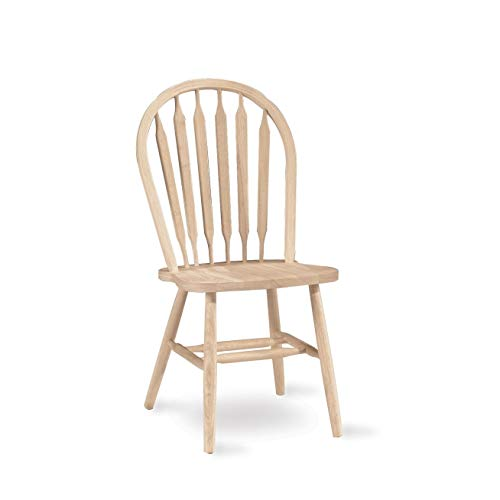 Traditional Chair Arrow - International Concepts 1C-113 37-Inch Arrow Back Chair, Unfinished
