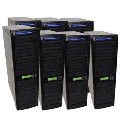 Produplicator 1 to 70 Blu-ray CD/DVD SATA Daisy Chain Duplicator with 500GB HDD