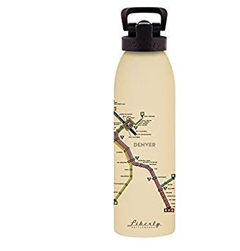 Made in USA Liberty Bottleworks Denver Mass Transit Aluminum Water Bottle