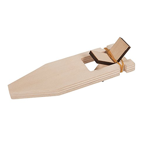Fun Express - DIY Wood Paddle Boat - Craft Kits - DYO - Wood - Toy - 12 Pieces