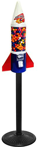 Gumball Machine Factory Mighty Mite Rocket Gumball Machine with Stand (Gum All Machine Stand)