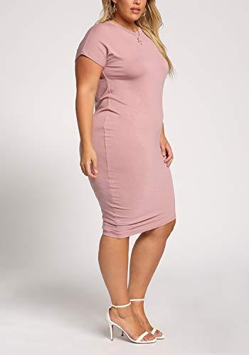 Debshops Femmes Taille Plus Asymétrique Mauve Robe Moulante