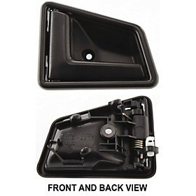 SUZUKI SIDEKICK 89-98 FRONT DOOR HANDLE LEFT INSIDE, Smooth Black, 4-Door ()