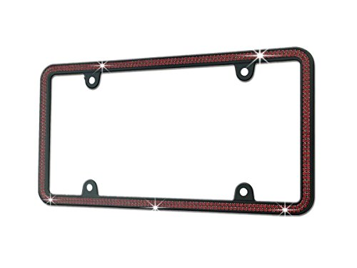 red and black license plate frame - 1