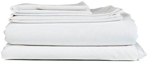 600 Thread Count Solid Pattern 8 Inches Deep Pocket 100% Egyptian Cotton 4 Piece Sheet Set QUEEN Size White Color