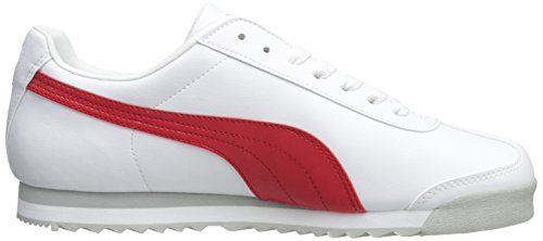PUMA Men's Roma Basic Fashion Sneaker, White/High Risk Red/White - 9 D(M) US by PUMA (Image #7)