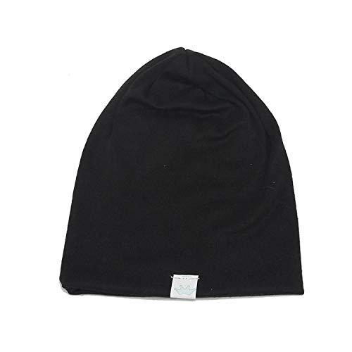 HiiWorld Fashion Cute Solid Knitted Cotton Hat Beanies for Newborn Baby Children Autumn Winter Warm Earmuff Hats Black