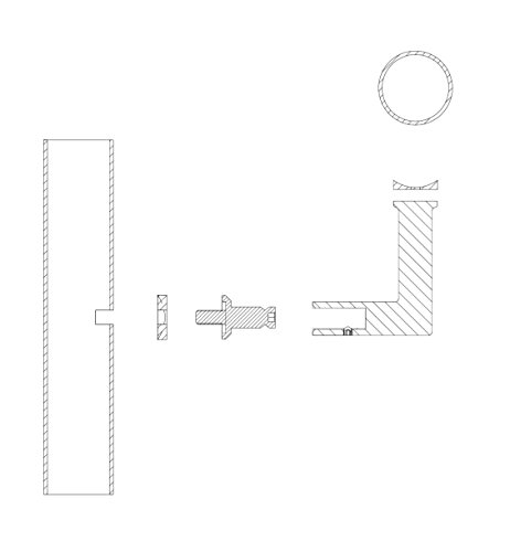 Stainless Steel Handrail Wall Bracket Luminous Quasar (Mounting Surface: Wood or Sheet Rock) by Inline Design (Image #2)
