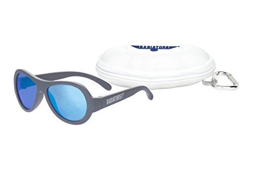 Babiators Gift Set: Original Sunglasses (Classic, Age 3-7) + Awesome Cloud Case (Blue Steel) by Babiators