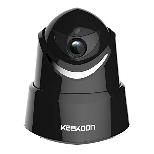 KEEKOON HD 1080P Wireless Wired WiFi IP Camera, Baby Monitor with Two-Way Talk Pan Tilt Night Vision Black