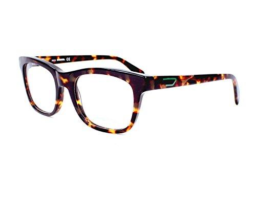 New Diesel Women's DL5079 052 Dark Havana/Tortoise Rectangle 53mm Glasses