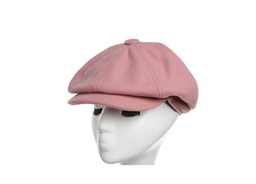 UKURO Women Newsboy Cap Autumn Winter Suede Fabric Octagonal Hats Outdoor,Pink