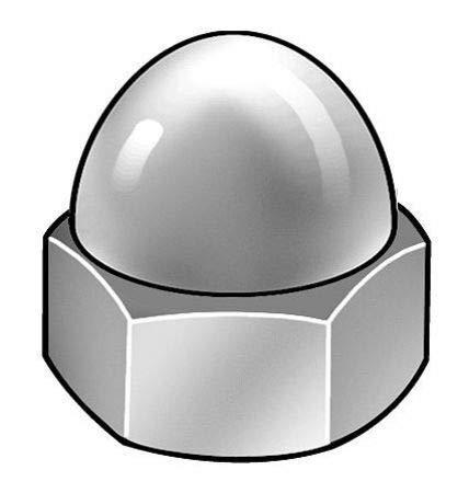 18-8 Stainless Steel Plain Finish Acorn Nuts ZORO SELECT CPB020#10-32, 25 pk.