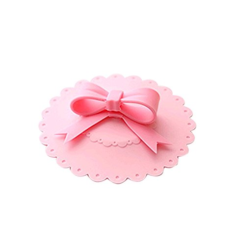 Silicone Cute Bowknot Flower Anti-dust Coffee Leakproof Glass Coffee Mug Cup Cover Lid Cap (Bowknot)
