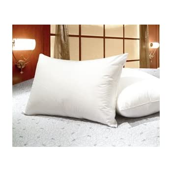 set of 2 queen size white goose feather and goose down pillows exclusively by