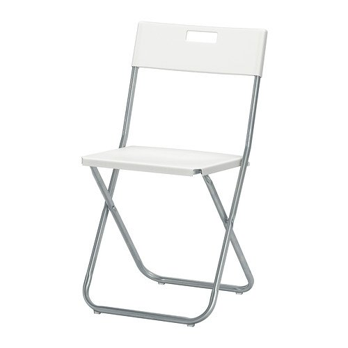 IKEA Folding Chair, White (2)