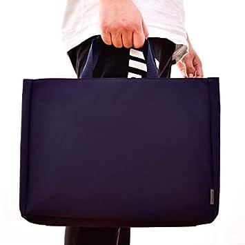 Chenyu - Archivador portátil A4 con asa y Bolsa de Almacenamiento con Cremallera para Oficina, Escuela, Viajes, Vacaciones, Azul: Amazon.es: Jardín