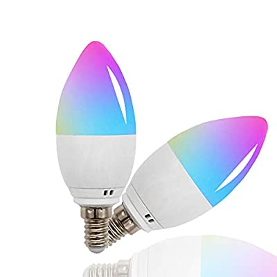 Smart WiFi Multicolor Light Bulb,Compatible with Alexa, Echo, Google Home and Siri(No Hub Required)