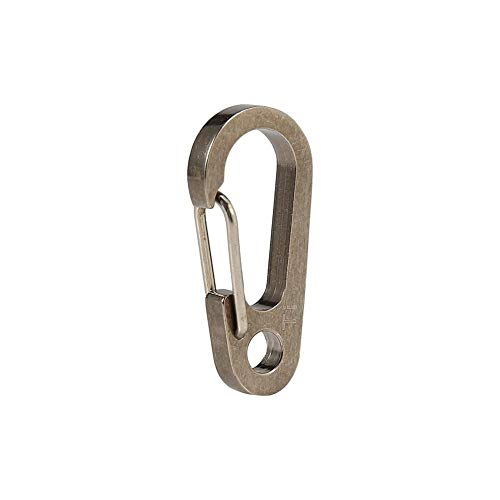 (Locking Carabiner Titanium Alloy Key Ring Fast Hooks Keychain Carabiners Clip Set for Outdoor Camping (Natural Color))