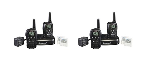 Midland LXT500 Two-Way Radio FRS GMRS Walkie Talkies Rechargeable 4-PACK
