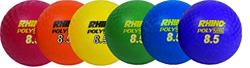 Champion Sports Rhino Poly Playground Ball Set (Multi, 8.5-Inch Diameter) ()