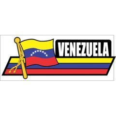 Venezuela Flag Car Sidekick Trunk Bumper Fender Window Decals Stickers -