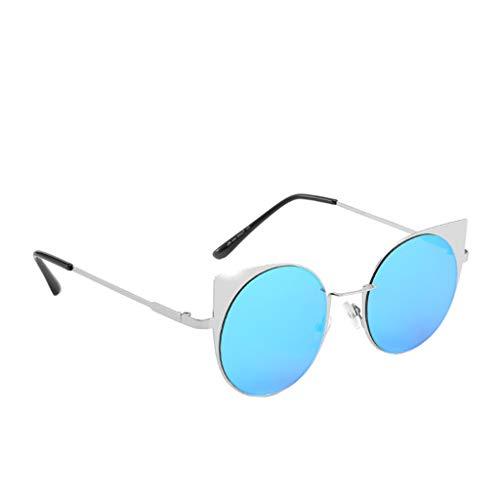 - LODDD Unisex Fashion Metal Small Frame Sunglasses Vintage Irregular Shape Sun Glasses