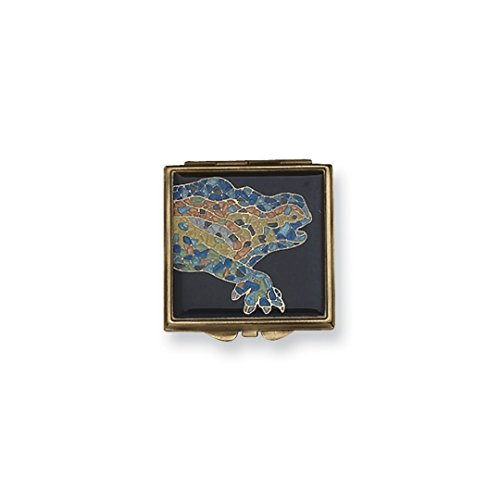 ICE CARATS Gold Tone Mosaic Enamel Compact Mirror Woman Pill Box Lipstick Holder Fashion Jewelry Ideal Mothers Day Gifts For Mom Women Gift Set From - Gift Solitaire Box