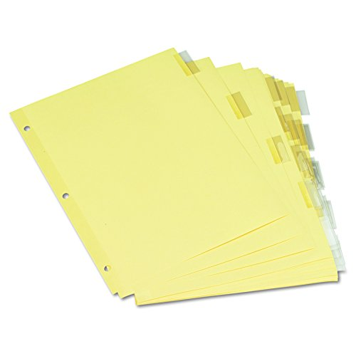Universal Economical Insertable Index, Clear Tabs, 5-Tab, Letter, Buff, 6 Sets/Pack (21871)