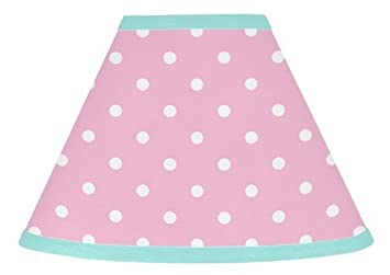 Amazon sweet jojo designs pink polka dot and turquoise skylar sweet jojo designs pink polka dot and turquoise skylar baby childrens lamp shade aloadofball
