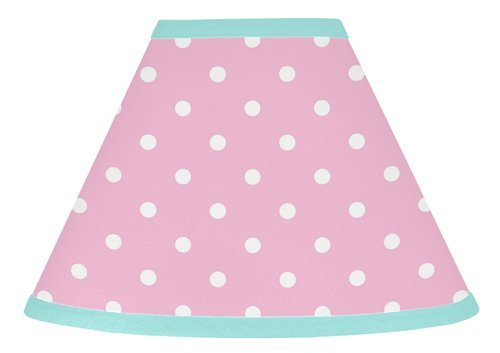 Sweet Jojo Designs Pink Polka Dot and Turquoise Skylar Baby, Childrens Lamp ()