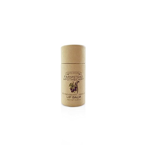 Farmstead Apothecary 100% Natural Lip Balm with Organic Beeswax, Organic (Natural Organic Vanilla Lip Balm)