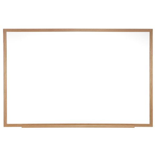 Ghent 48.5 x 72.5 inches  Wood Frame Non-Magnetic Whiteboard Includes 1 Marker & Eraser - Made in U.S.A.