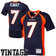 Mitchell & Ness John Elway Denver Broncos Navy Throwback Jersey (4X)