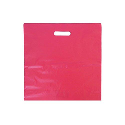 Bolsa Plastico Fucsia 40x40 cm Pack 100 ud