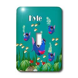 3dRose lsp_51226_1 This Vibrant Artwork Of Fish Under The Sea Is Personalized With The Name Kyle Toggle Switch