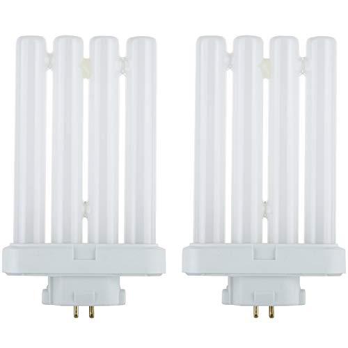 Sunlite FML27/65K/2PK Compact Fluorescent 27W Quad Tube Light Bulbs, 6500K Daylight Like Light, GX10Q-4 Base, 4 Pack