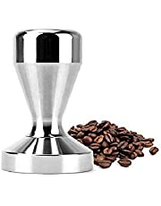 Innlife Espresso Tamper 51mm Solid Iron with Chrome Plated Base | Modern Professional Barista| Espresso Coffee Tamper Flat Base Silver