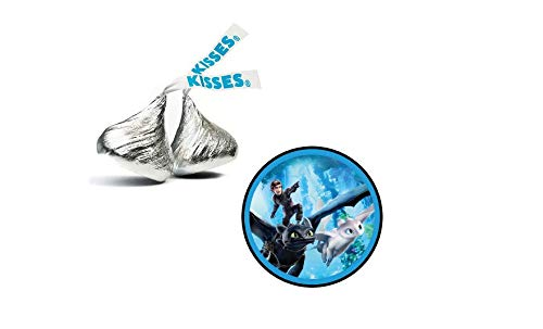 108 how to train your dragon birthday party hershey kiss labels stickers decorations