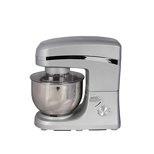 Stand Mixer, Food Mixer With 5.2L Stainless Steel Bowl, 1000W 6-Speed Food Mixer, Dough Mixer With Dough Hooks, Whisk, Beater, Silver